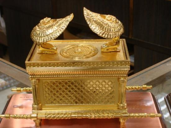 Beautiful replica of the golden ark of GOD Exodus 25