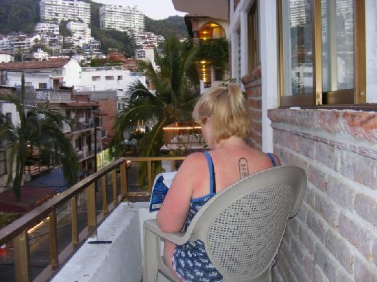 Me Drawing On The Balcony Picture Of Hotel Posada Lily