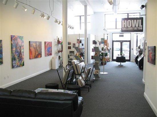 HOWL Gallery Tattoo Interior. By howlgallery