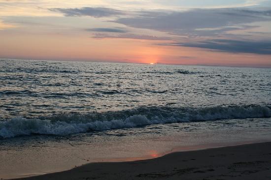 sunset Oval Beach Saugatuck Mi  Picture of Oval Beach