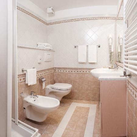bagno  toilette  Foto di Hotel Cristallo Canazei