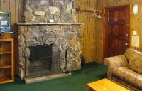 Stone or old-brick wood-burning fireplace - Picture of ...