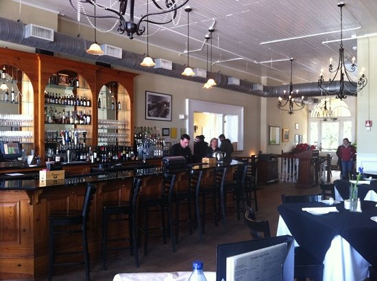 lunch overlooking the river  Picture of Vics On the