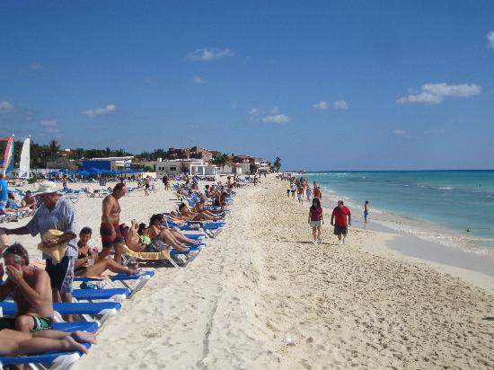 Beach Looking North Picture Of Hotel Riu Palace Riviera
