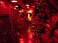 Control room under subdued lighting - Picture of USS ...