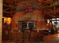 The Fireplace in the Lobby - Picture of Boulder Ridge ...