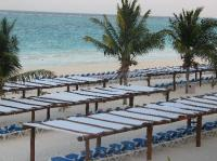 Covered beach chairs