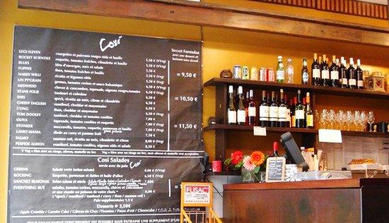 Cosi Paris  SaintGermaindesPrs  Restaurant Avis