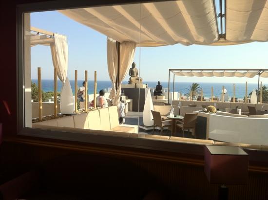 Terraza lounge  Foto de Hotel Riu La Mola Migjorn
