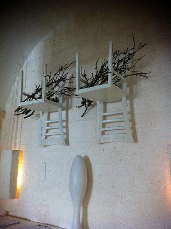 chair upside down on wall efavormart wedding covers interior decoration with chairs and twigs picture of borgo egnazia