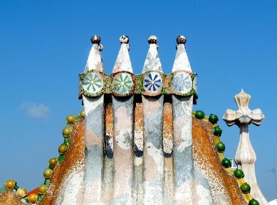 Chimeneas  Picture of Casa Batllo Barcelona  TripAdvisor