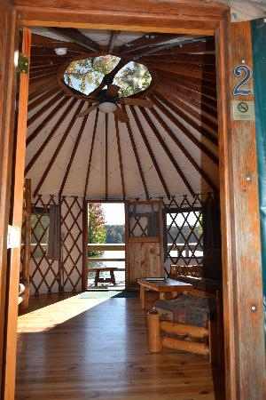View through the Yurt to the lake  Picture of Fort Yargo