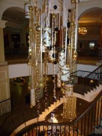 Christmas decorations in the main staircase - Picture of ...