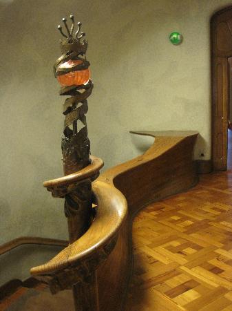 Stair railing  Picture of Casa Batllo Barcelona