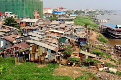 Shanty town along the Mekong River - Picture of Sundance Riverside Hotel,  Phnom Penh - Tripadvisor