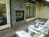 2 way fireplace & deck - Picture of Farmhouse Inn ...