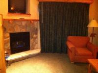 Fireplace in loft suite