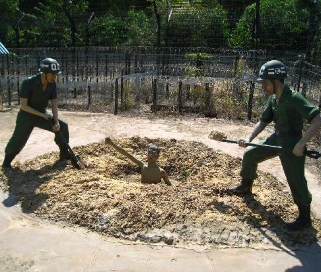 Phu Quoc Prison Prisoner Being Buried Alive