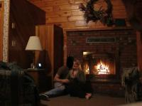 fireplace- so romantic! - Picture of Smoke Hole Caverns ...