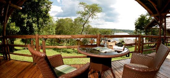 View From Tent At Chobe Safari Lodge Uganda Picture Of