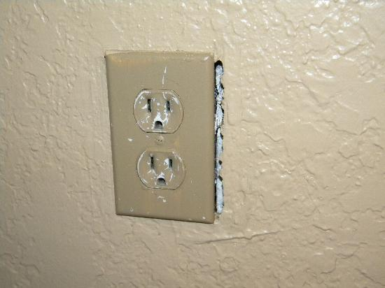 exposed electrical outlet in bedroom - picture of turtle beach