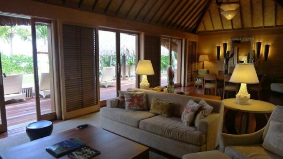 beautifully decorated living rooms home decorating ideas for long narrow villa room - picture of four seasons resort bora ...