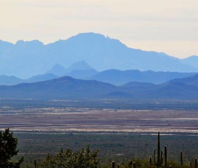 Arizona Sonora Desert Museum Quinlan Mountains Mit Kitt Peak