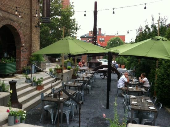 outdoor seating area  Picture of Woodberry Kitchen