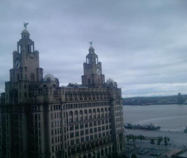Mercure Liverpool Atlantic Tower Hotel Liver Building Mersey View From Room On 12th Floor