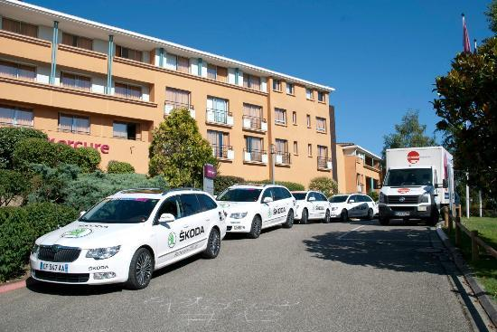 Our Fleet Of Cars Outside The Hotel Picture Of Mercure
