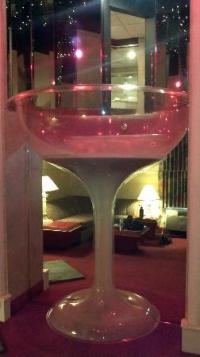 Champagne glass hot tub from the first floor - Picture of ...