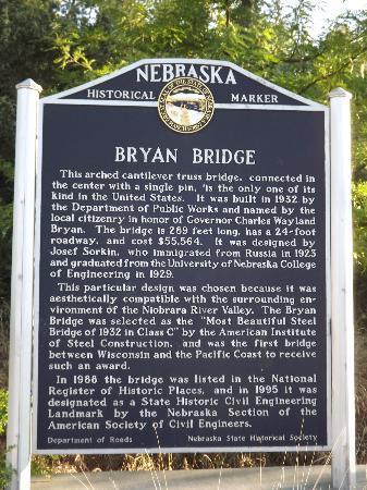 Bryan Bridge Historical Marker Picture Of Valentine