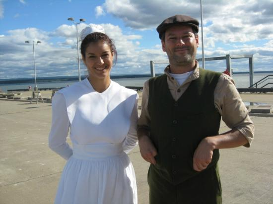 Actors playing real nurse Yvonne Beaudry and 'Pit' Masson the ambulance guy - Picture of Berthier-sur-Mer, Quebec