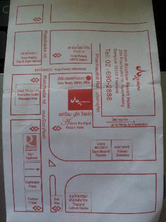Hotel Map Picture Of Atrium Boutique Resort Hotel Bangkok