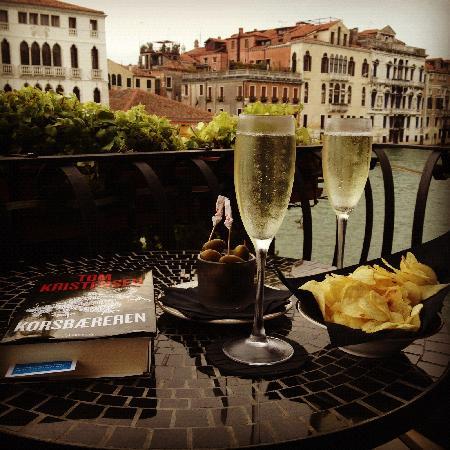 Prosecco and the Grand Canal  Picture of Hotel Palazzo Barbarigo Sul Canal Grande Venice