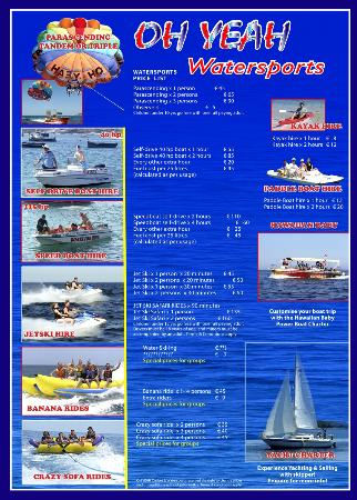 crazy sofa ride victorian sets india at oh yeah water sports picture of malta 2012 price list