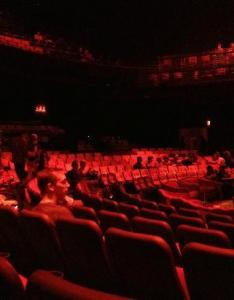 Zumanity cirque du soleil the theater gives you  perspective of upper also deck and lower rh tripadvisor