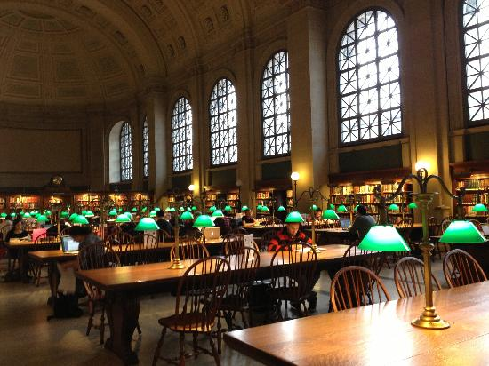 Boston Public Library Reading Room  Picture of The Westin