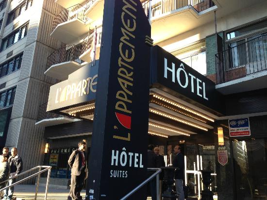 Street view  Picture of LAppartement Hotel Montreal  TripAdvisor