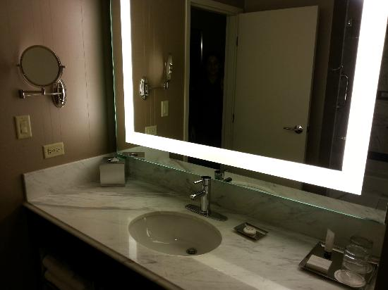 bathroom mirror  Picture of MGM Grand Hotel and Casino