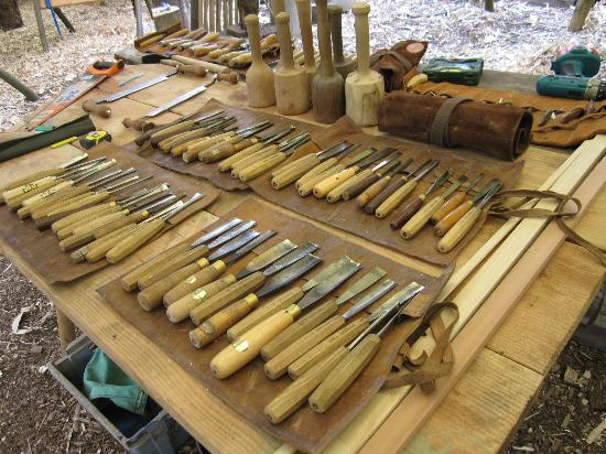 Holditch, UK: Guy Mallinson Woodland Workshop tools