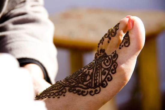Tatuaje En El Pie Fotografía De Henna Cafe Marrakech Tripadvisor