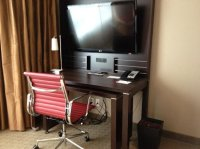 tv stand and desk with more outlets - Picture of Residence ...
