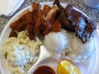 Combination plate fried pork & teriyaki beef - Picture of ...