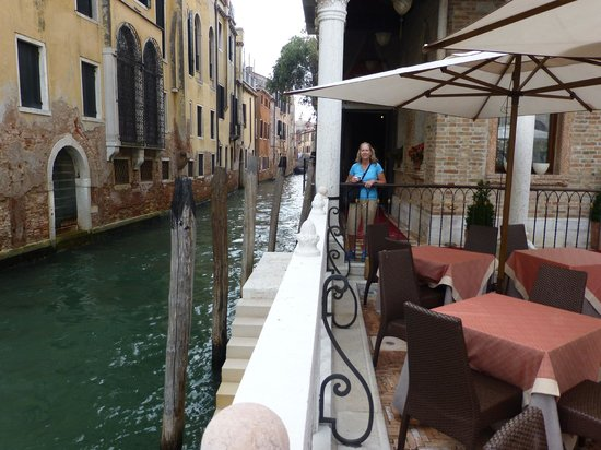 Patio And The Side Canal Off Of The Grand Canal Picture Of
