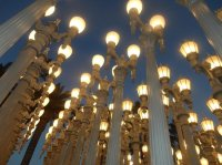 The famous lamp posts - Picture of Los Angeles County ...