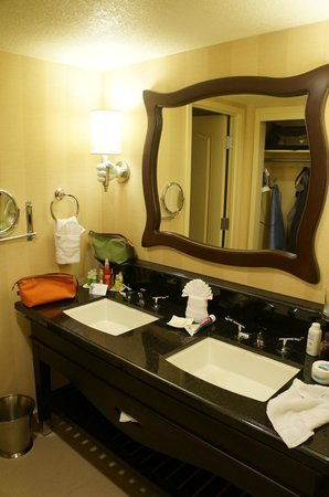 anaheim hotels with kitchen near disneyland banquette bench bathroom of 1 bedroom suite picture hotel