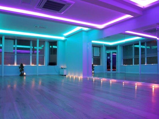 brand new studios with mood lighting