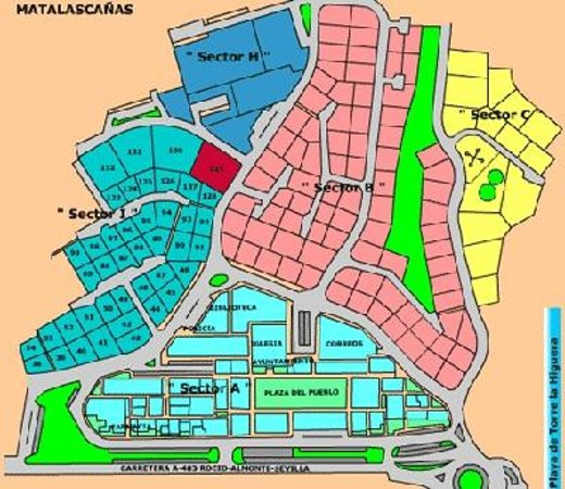 Mapa Matalascanas Espanha  thujamassages