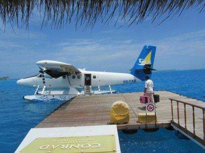 seaplane - hate to leave !! - Picture of Conrad Maldives ...
